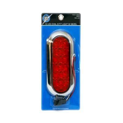 10 LED Oval S/T/T Light With Bezel