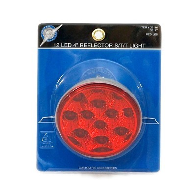 "12 LED 4"" Reflector S/T/T Light"